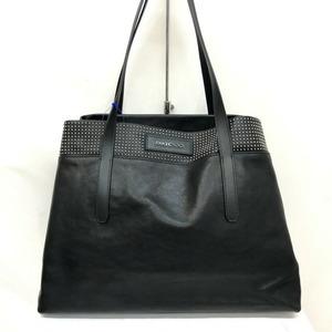 JIMMY CHOO Jimmy Choo Tote Bag Sophia SOFOA Studs Black Leather Silver Semi-shoulder One-shoulder Women's Men's