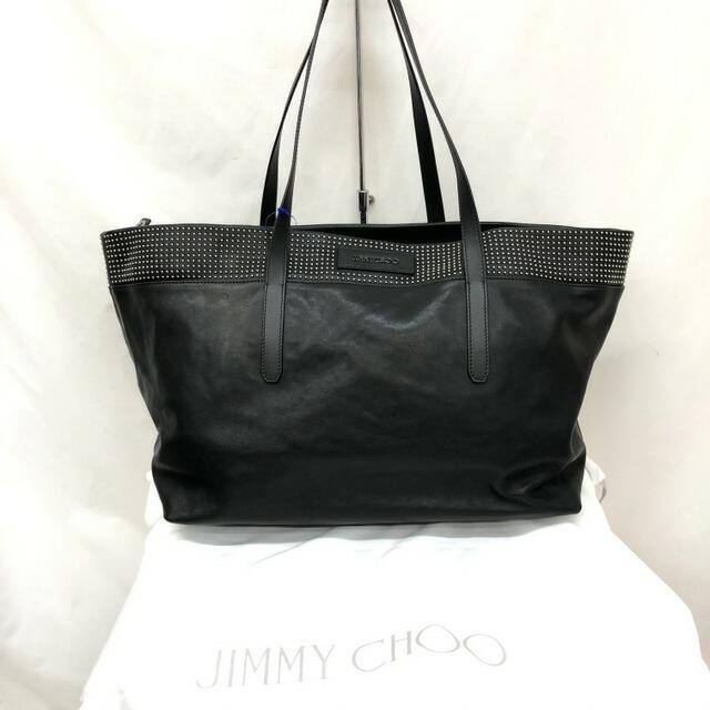 ジミーチュウ(Jimmy Choo) JIMMY CHOO ジミーチュウ トートバッグ ソフィア SOFOA スタッズ ブラック レザー シルバー セミショルダー ワンショルダー バッグ レディース メンズ