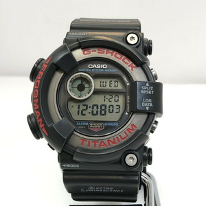 G-SHOCK CASIO Casio watch DW-8200-1A FROGMAN Frogman black red titanium quartz men's