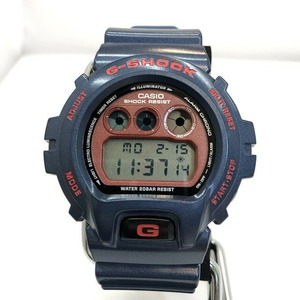 G-SHOCK CASIO Casio watch DW-6900CM gfactory quartz navy red backlight rubber belt men's