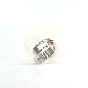 GUCCI Gucci Ring Open G Silver 925 Sterling Accessory Women's Men's