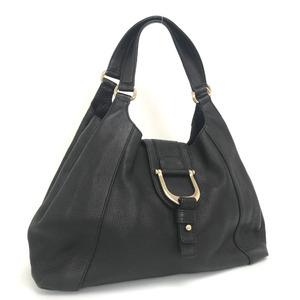 Gucci Tote Bag Shoulder 268747 Leather Black Ladies