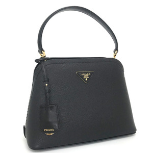 Prada Handbag Shoulder Bag 2WAY Saffiano Leather Black Ladies PRADA K01118189