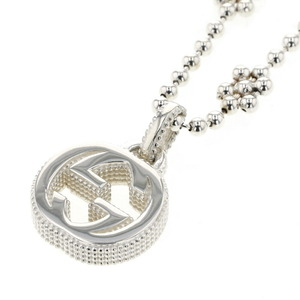 Gucci Necklace Interlocking G Mini Flower Silver 925 Ladies