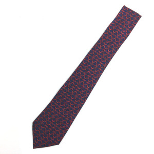 Hermes Tie 862 PA Silk Navy Men