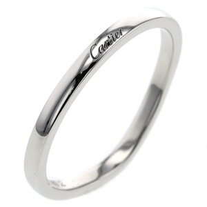 Cartier Rings / Ballerina Curve Wedding B4092800 PT950 No. 19 Men