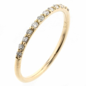 AHKAH Aker Ring / Douz Brier K18 Yellow Gold Diamond 0.12ct No. 6 Ladies