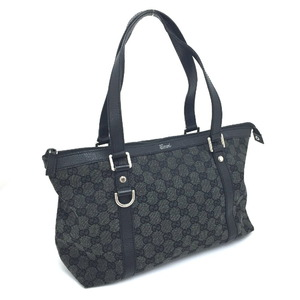 Gucci Tote Bag Semi-shoulder 272399 GG Canvas Leather Black Ladies