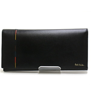 Paul Smith Bi-Fold Wallet 290GY190NV990 Black Multi Stripe