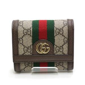 GUCCI Gucci Offdia tri-fold wallet 523174 beige