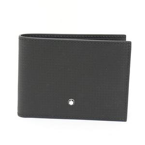 Montblanc MONTBLANC Extreme Wallet 6cc Black Leather Carbon Fiber Print 111143 EXTREME Bi-Fold