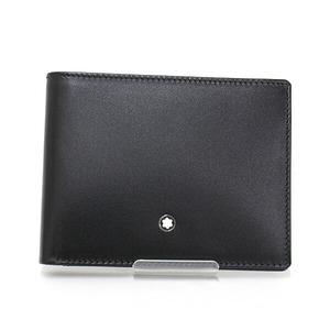 Montblanc MONTBLANC Meisterstück wallet 6cc black leather 14548 MEISTERSTUCK bi-fold