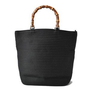 Gucci Handbag Tote Bag Vintage Bamboo Canvas Black