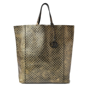 Bottega Veneta Tote Bag Intreccio Mirage Gold Black Butterfly