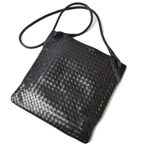 Bottega Veneta Shoulder Bag Messenger Men's Intrecciato Leather Black