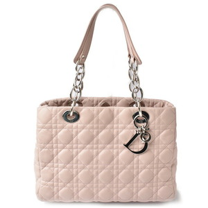 Christian Dior Shoulder Bag Chain Tote Miss Canage Stitch Rose Pink