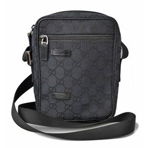 Gucci messenger bag shoulder GG canvas black