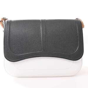 Hermes HERMES Vaux Epson Sack Arne Shoulder Bag White Black