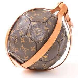 Louis Vuitton LOUIS VUITTON Monogram Soccer Ball 1998 France World Cup Limited to 3000 Brown PVC