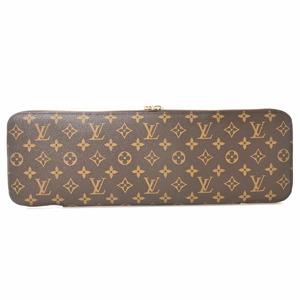 Louis Vuitton LOUIS VUITTON Monogram Etui 5 Gravatt Tie Case Brown PVC