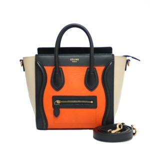 CELINE Celine Shoulder Bag Handbag Luggage Nano Multicolor Ladies