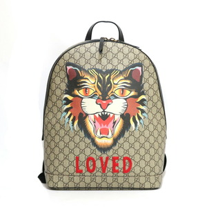 GUCCI Gucci rucksack daypack GG LOVED Supreme Gray Ladies Men
