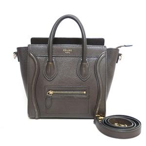 CELINE Celine Handbag Shoulder Bag Luggage Nano Brown Ladies