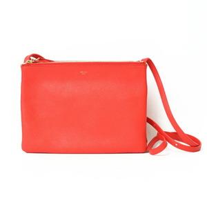 CELINE Celine Shoulder Bag Trio Orange Ladies