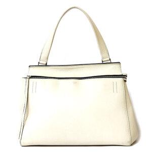 CELINE Celine Shoulder Bag Handbag 2way White Ladies
