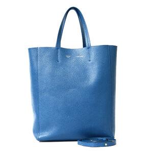 CELINE Celine Shoulder Bag Cover Vertical Small Tote 2way Blue Ladies