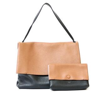 CELINE Celine Shoulder Bag All Soft Black Brown White Ladies