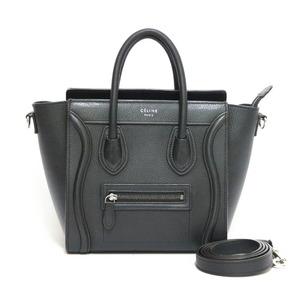 CELINE Celine Handbag Shoulder Bag Luggage Nano Black Ladies