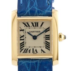 CARTIER Cartier K18 Watch Tank Francaise Blue Ladies