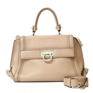 Salvatore Ferragamo Handbag Shoulder Bag Beige Ladies