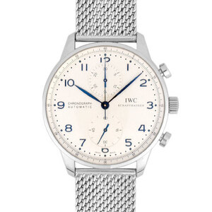International Watch Company IWC Portugieser Chronograph Stainless Steel Men's Automatic Silver Dial IW371446