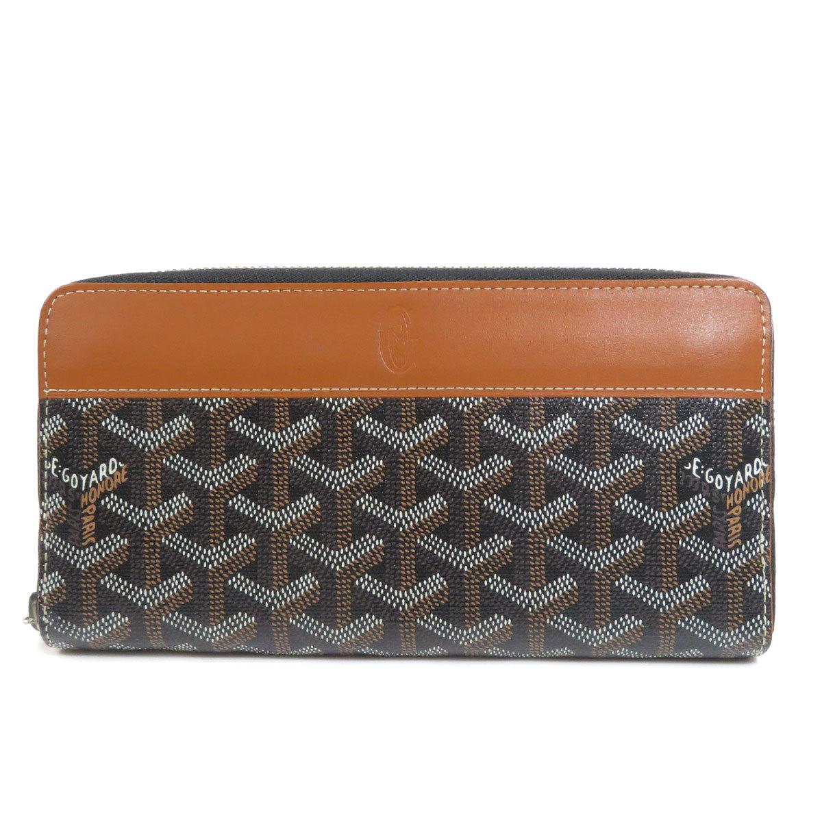 Goyard Zip GM Purse Coated Canvas Leather Unisex