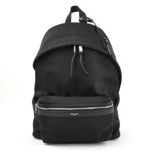 Saint Laurent Rucksack Backpack City Black Canvas Ladies