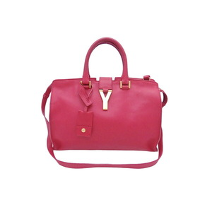 Saint Laurent 2Way bag Kabassic red leather gold metal fittings handbag shoulder