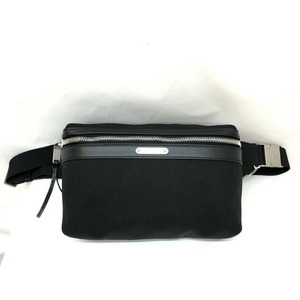 SAINT LAURENT waist bag 505973 black belt hip canvas leather men's women's