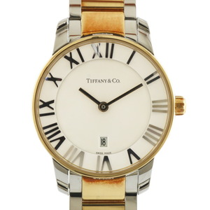 TIFFANY & Co. Tiffany Watches Atlas Silver Gold Ladies Stainless Steel