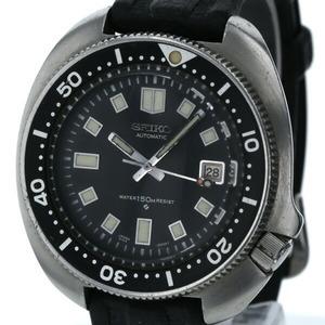セイコー SEIKO セカンドダイバー 植村直己モデル 6105-8116 2nd 自動巻き ブラック文字盤 メンズ 時計