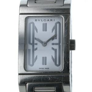 ブルガリ(Bvlgari) ブルガリ BVLGARI レッタンゴロ RT39S クオーツ スクエア ホワイト文字盤 レディース 時計