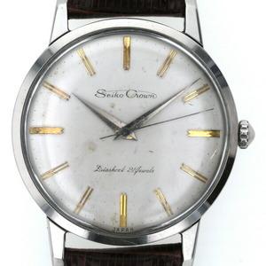 セイコー SEIKO クラウン Crown J14066 手巻き アイボリー文字盤 メンズ 時計