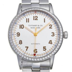 Tiffany CT60 3 Hand Bezel Diamond Ladies Men's Watch 34668353 Stainless Steel Silver Arabian Dial