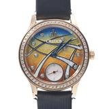SEIKO Seiko credor caliber 6898 enamel dial limited model GTBE998 ladies YG leather watch manual winding gradation
