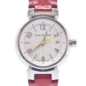 LOUIS VUITTON Louis Vuitton Tambour Hologram Q121K Ladies Stainless Steel Leather Watch Quartz White Dial
