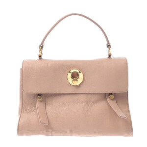 SAINT LAURENT Muse toe 2WAY bag beige ladies calf canvas handbag