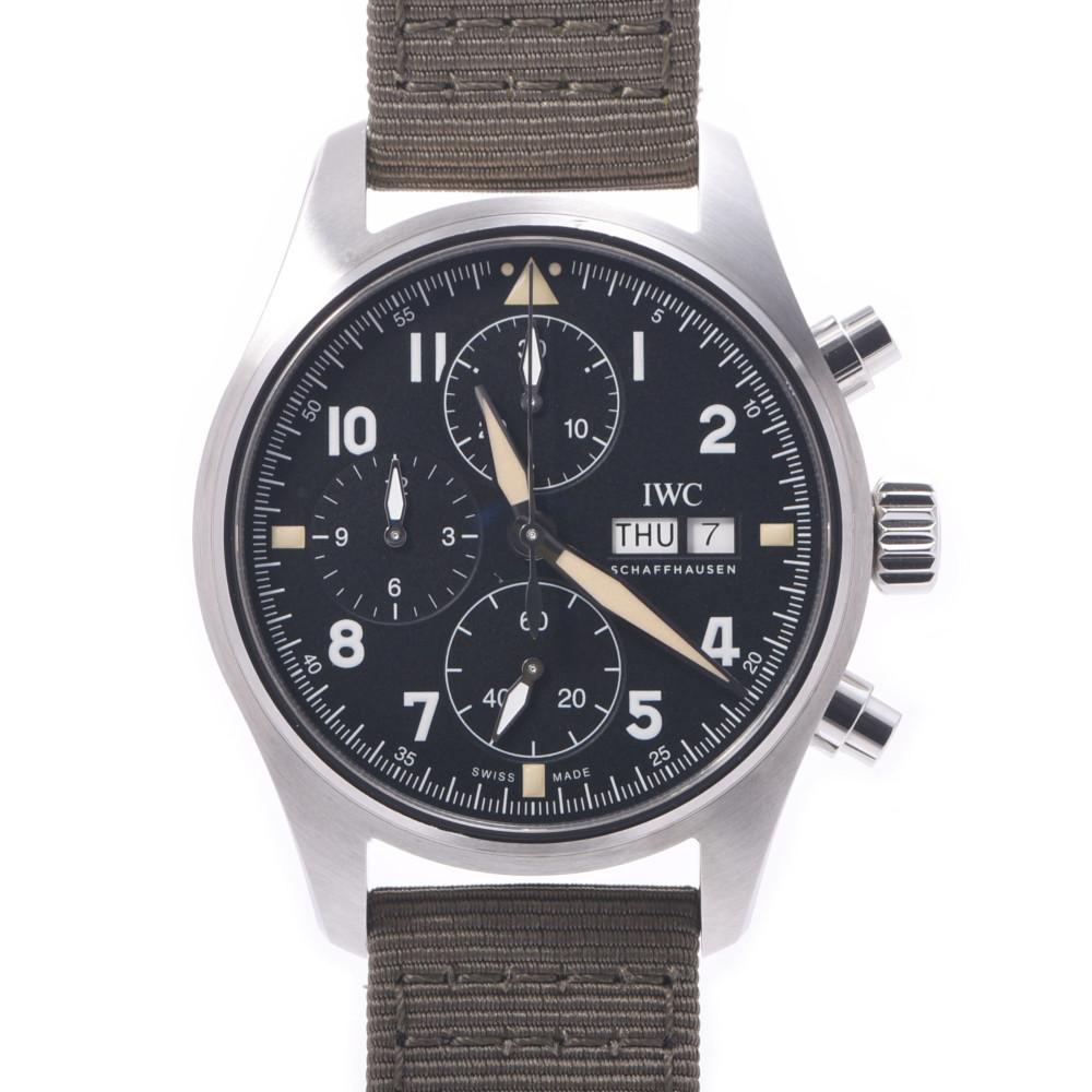 IWC SCHAFFHAUSEN Pilot's Watch Chrono IW387901 Men's Stainless Steel Nylon Automatic Black Dial