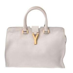 SAINT LAURENT petit cabas ivory gold hardware ladies leather handbag
