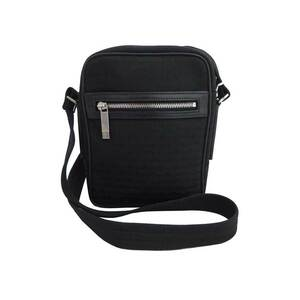 Christian Dior bag logo black silver metal fittings canvas leather shoulder ladies men